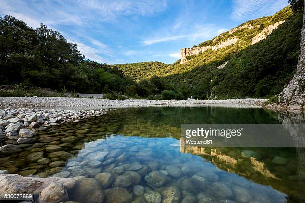France, Rhone-Alpes, Ibie river at Gorges de l'Ardeche Nature Reserve