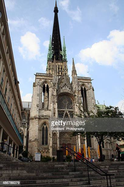 france: rouen cathedral - rouen stock pictures, royalty-free photos & images