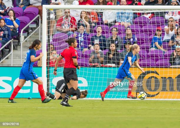 France scores a goal during the SheBelieves Cup between Germany and France on March 7th 2017 at Orlando City Stadium in Orlando FL