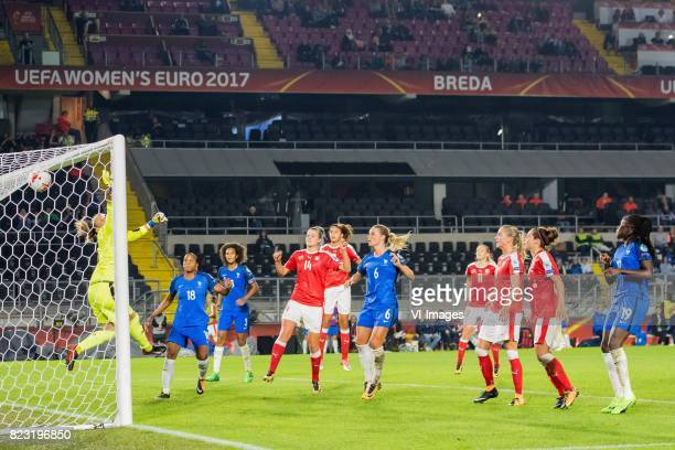 France scores during the UEFA WEURO 2017 Group C group stage match between Switzerland and France at the Rat Verlegh stadium on July 26 2017 in Breda...