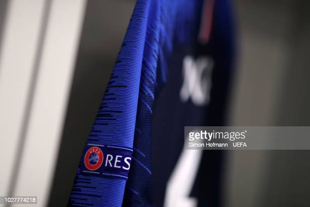 A france shirt is seen in the changing room prior to the UEFA Nations League Group A match between Germany and France at Allianz Arena on September 6...