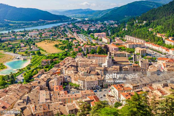 france - sisteron, high angle view - sisteron stock pictures, royalty-free photos & images