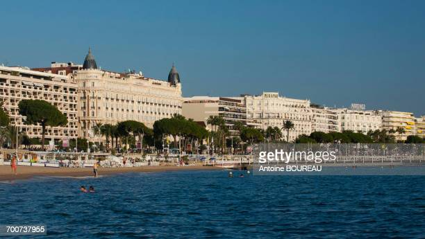 France, Southern France, Cannes, Hotel Carlton, Miramar and Martinez, Croisette and beaches