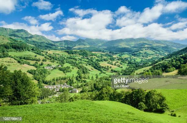 france, south-western france, mountains of the cantal, mandailles valley - cantal stock pictures, royalty-free photos & images