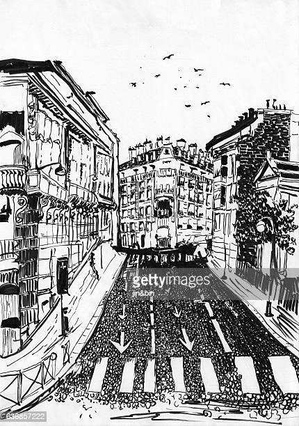 france street hand drawn paint