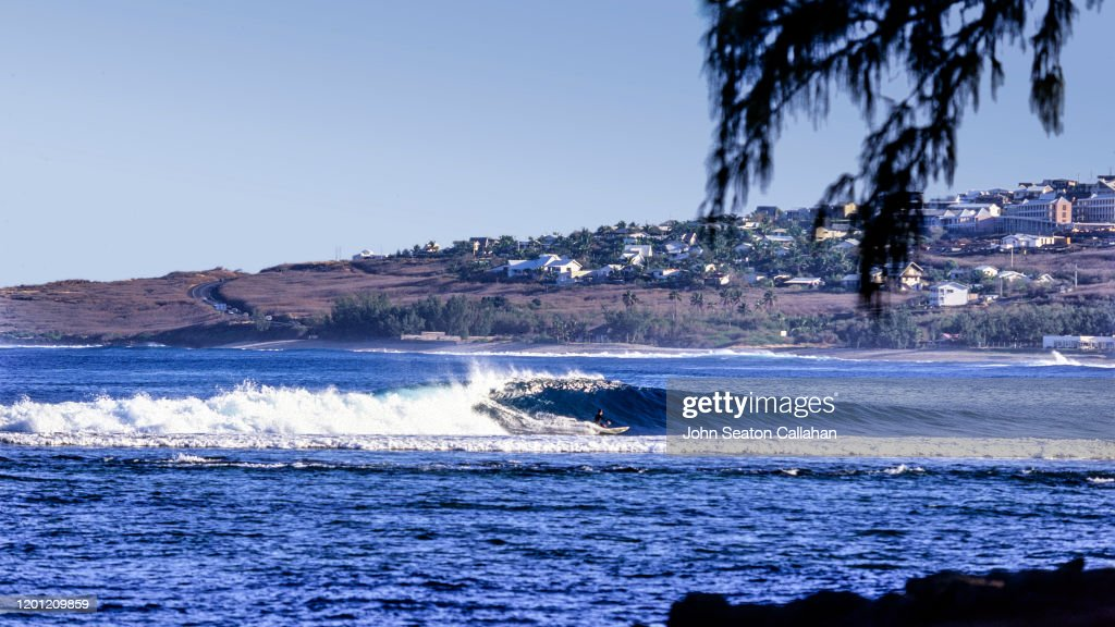 France, surfing on Réunion Island : Stock Photo