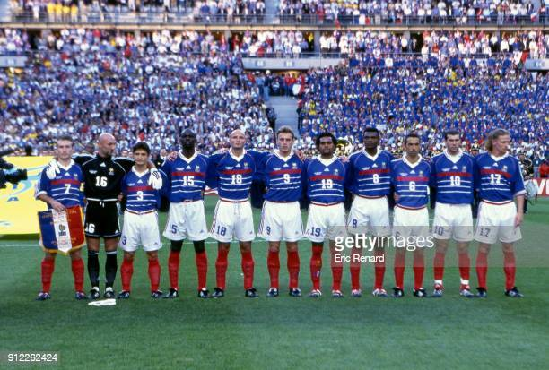 France team before the Soccer World Cup Final between Brazil and France on July 12 1998 in Paris Saint Denis France Eric Renard / Onze / Icon Sport