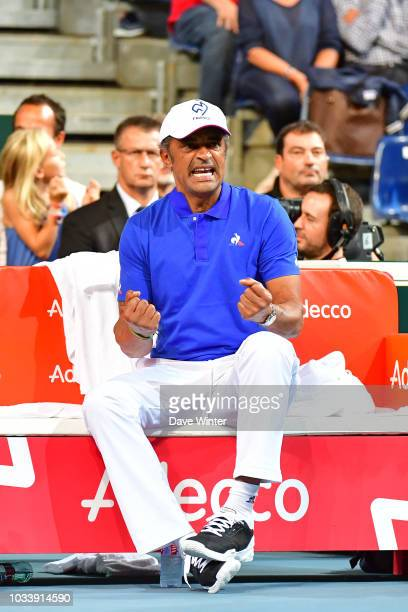 France team captain Yannick Noah during Day 2 of the Davis Cup semi final on September 15 2018 in Lille France