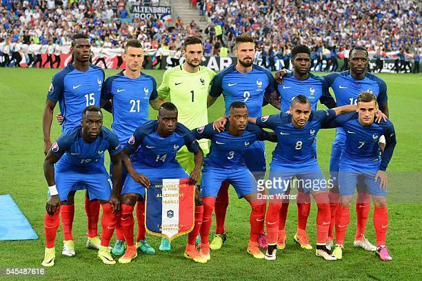 France team group before the Uefa Euro Semi final between France and Germany at Stade Velodrome at Stade Velodrome on July 7 2016 in Marseille France