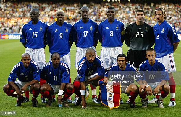 France team group taken before the FIFA Confederations Cup Group A match between France and Colombia held on June 18, 2003 at the Stade Gerland, in...