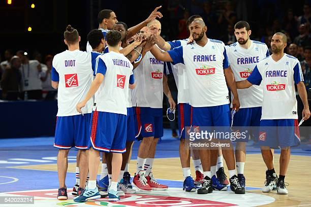 France team of Basket during the International Friendly Match between France and Serbia at AccorHotels Arena on June 21 2016 in Paris France France...