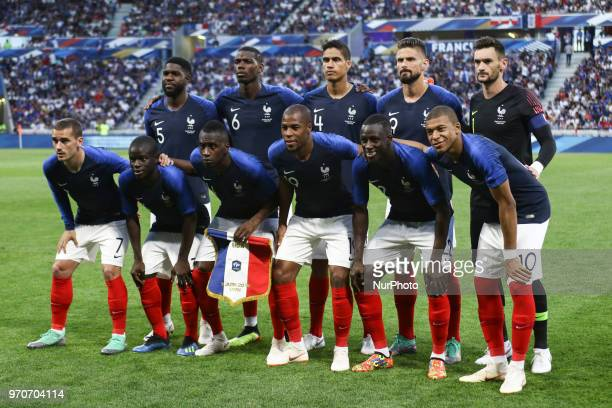 France Team of France during the friendly football match between France and USA at the at the Parc Olympique lyonnais stadium in DecinesCharpieu near...