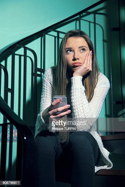france, teenager at home - sulking stock photos and pictures