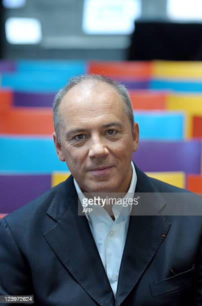 "France Telecom chairman and CEO Stephane Richard poses prior to a press conference to present an Orange's new brand named ""Sosh"" in Paris on..."