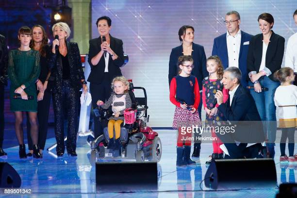France Television President Delphine Ernotte Sophie Davant Nagui and AFM President Laurence Tiennot Herment announce the result of the pledges...
