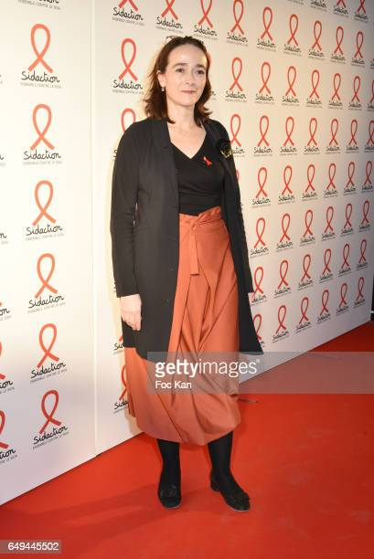 France Televisions president Delphine Ernotte attends the Sidaction 2017 Launch Party Photocall at Musee Branly on March 07 2017 in Paris France