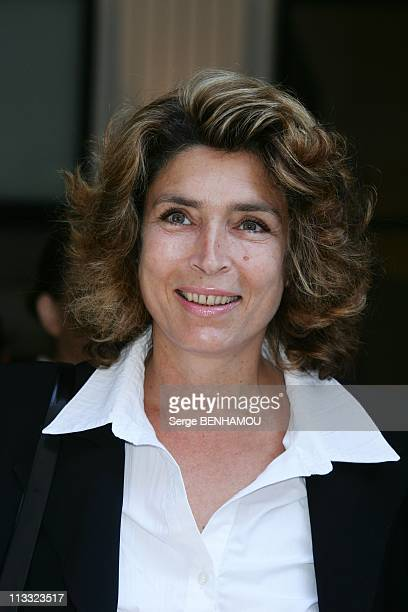 France Televisions Press Conference At The Salle Pleyel In Paris France On August 30 2007 MarieAnge Nardi