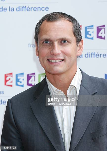 France Televisions Press Conference In Paris France On August 28 2008 Louis Laforge