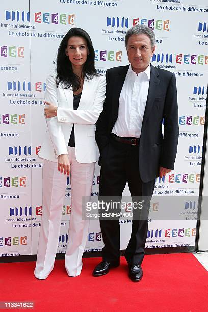 France Televisions Press Conference In Paris France On August 28 2008 Marie Drucker and Michel Drucker