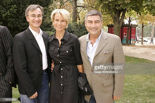 France Televisions Press Conference On September 5Th 2005 In Paris France Here Laurent Petitguillaume Nathalie Rihouet Patrice Drevet