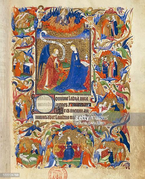 France The annunciation miniature from the manuscript Breviary 469 141015