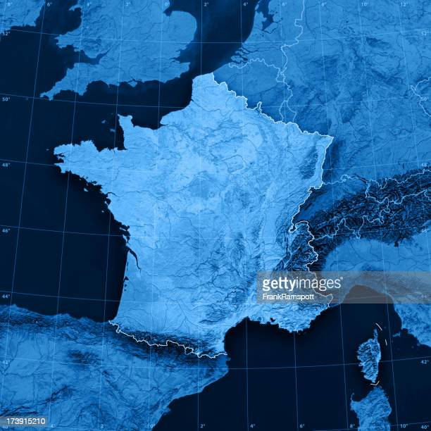 France Carte topographique
