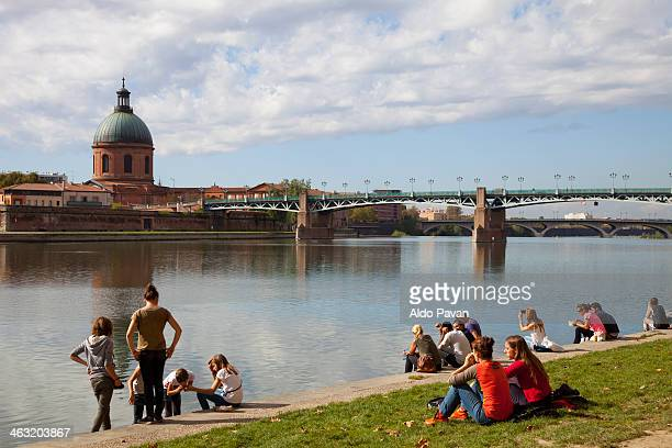 France, Toulouse, Garonne river