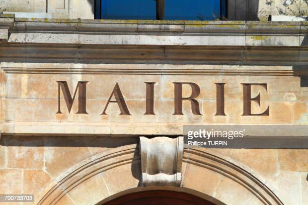 france, town hall frontage. - town hall stock pictures, royalty-free photos & images