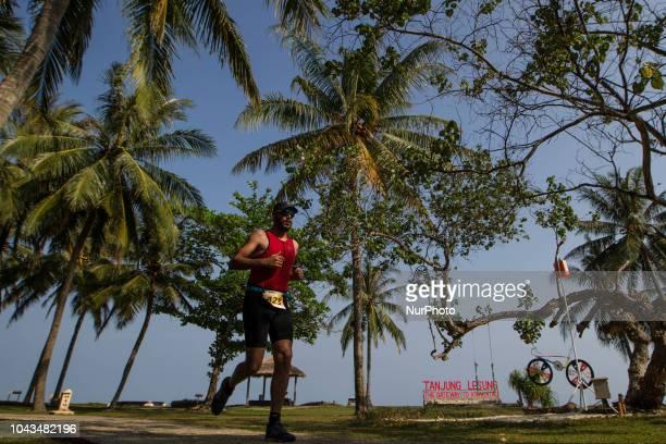 France triathlon athletes Antoine Dagorne during 2018 Rhino Cross Triathlon at Tanjung Lesung Banten Indonesia on September 30 2018 He take 5th place...