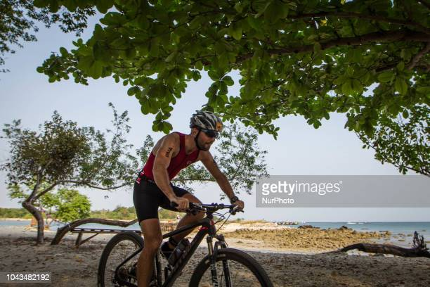 France triathlon athletes Simon Tailpied during 2018 Rhino Cross Triathlon at Tanjung Lesung Banten Indonesia on September 30 2018 He take 3rd place...