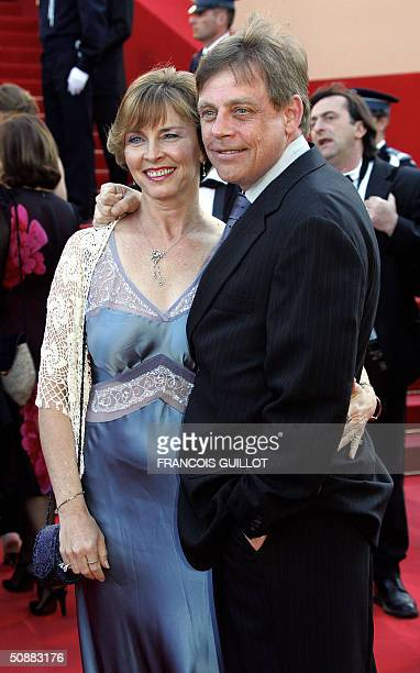 US actor Mark Hamill of Star Wars fame and his wife Marilou arrive for the official projection of the film The Life and Death of Peter Sellers 21 May...