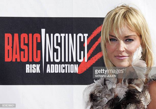 US actress Sharon Stone poses during the photo call for Michael CatonJones' film Basic Instinct 2 Risk Addiction 15 May 2005 at the Carlton hotel...