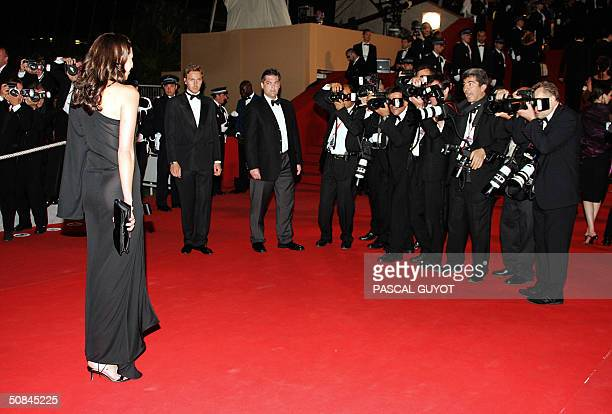 US film director Alexandra Kerry daughter of US presidential candidate John Kerry poses for photographers as she arrives for the official projection...