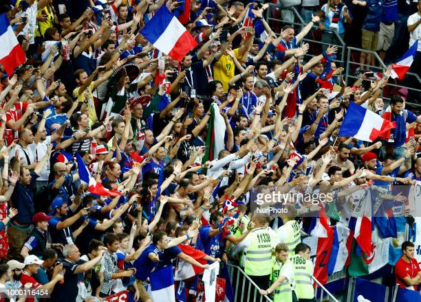 France v Croatia FIFA World Cup Russia 2018 Final France supporters celebration at Luzhniki Stadium in Moscow Russia on July 15 2018