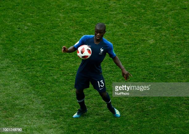 France v Croatia FIFA World Cup Russia 2018 Final Ngolo Kante at Luzhniki Stadium in Russia on July 15 2018
