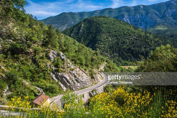 france, vaucluse, brantes, toulourenc valley and north slope of the mont ventoux - モンヴァントゥー ストックフォトと画像