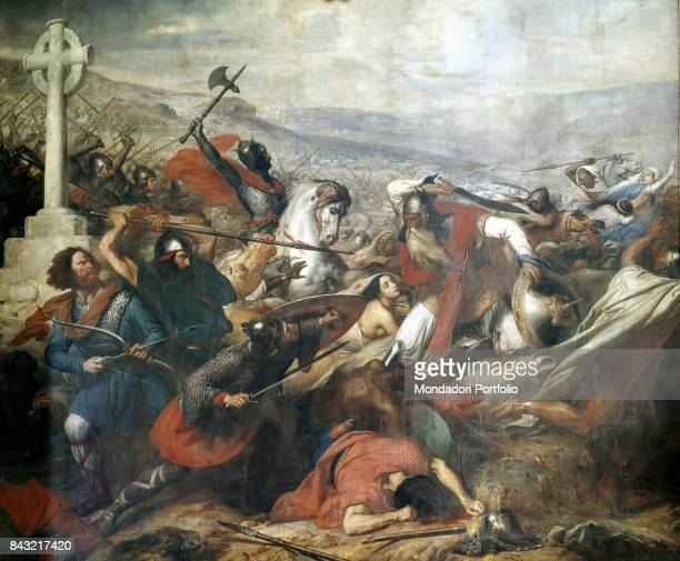 France Versailles Palace of Versailles Whole artwork view Scene from the battle of Poitiers fought between the Muslim army and the Franks led by...