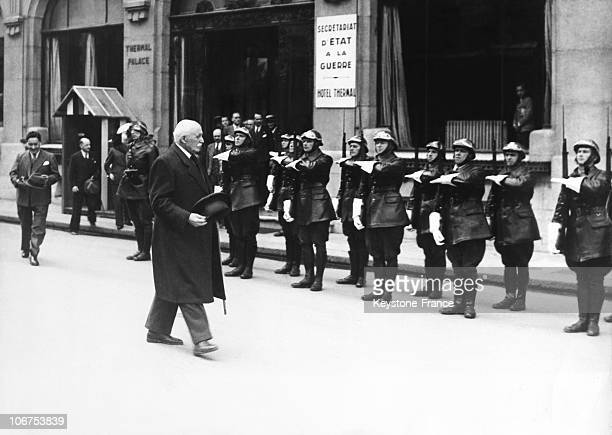 France Vichy The Private Guard Saluting Marshal Petain During World War Ii 1944