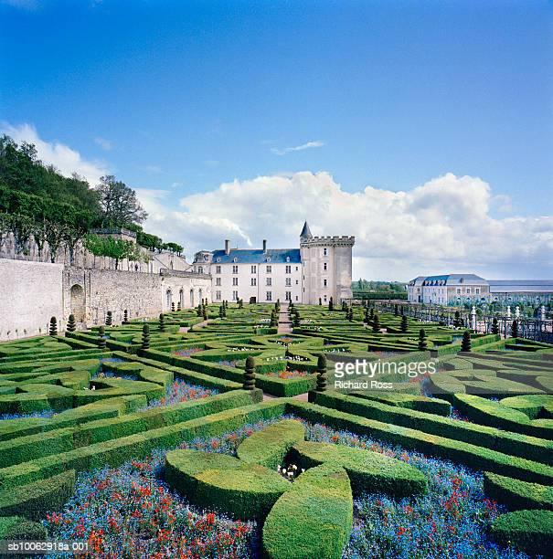 france, villandry, caen, castle and baroque french garden - calvados stock pictures, royalty-free photos & images