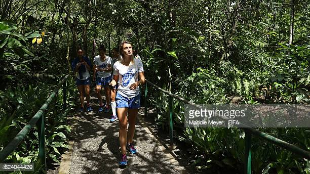 France visits the the Port Moresby Nature Park on November 18 2016 in Port Moresby Papua New Guinea