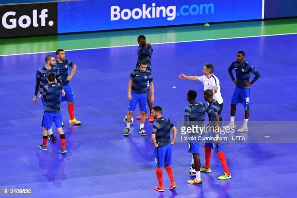 France warmup ahead of the UEFA Futsal EURO 2018 group D match between  France v Azerbaijan 699b1b0f008bc