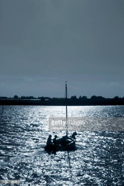 France, Western France, Noirmoutier island, Etier du Moulin, back from a trip on a small sailing ship