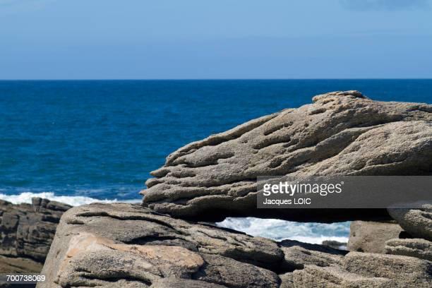 France, Western France, Yeu island, Pointe du But, rocks.