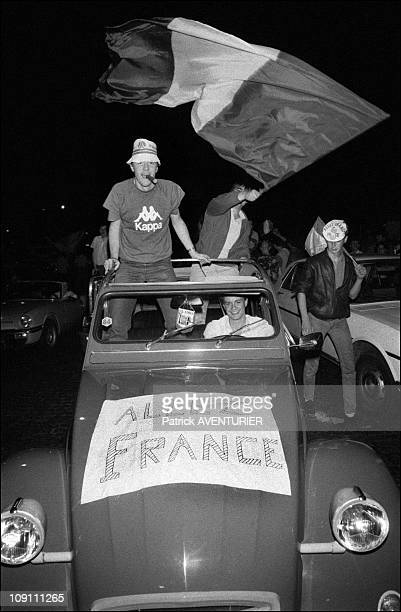 France Wins Euro '84 On June 27Th 1984 In Paris France B/W 217707