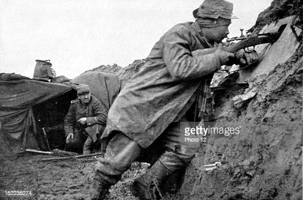 France World War I In the mud of the northern trenches