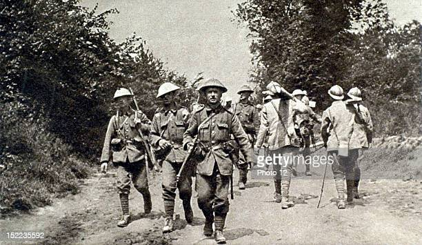 France World War I On the Somme front the trail connecting the allied armies