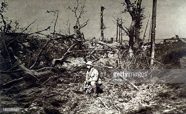 France World War I On the Somme front the trail leading to Peronne