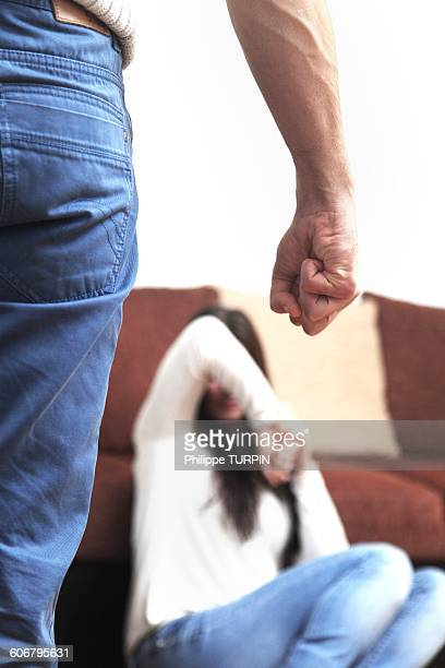 france, young couple at home - ominous stock photos and pictures