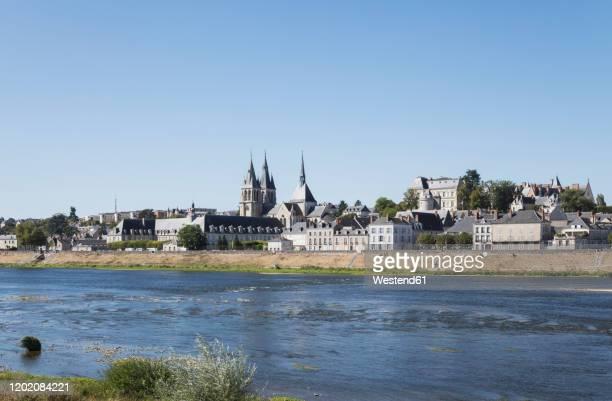 france,centre-valdeloire, blois, clear sky over riverside city in loire valley - loir et cher stock pictures, royalty-free photos & images