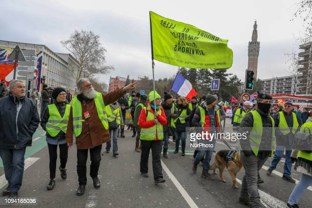 FranceLilleOn February 2 yellow waistcoats accompanied by the CGT syndicate marched in the streets of the city some incidents took place with the...
